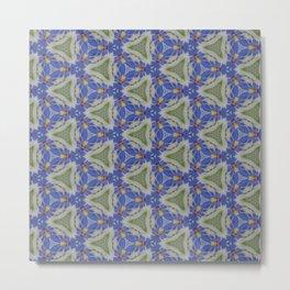 Blue Stitchery Metal Print