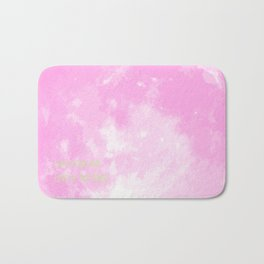 Love By The Moon Pink Bath Mat