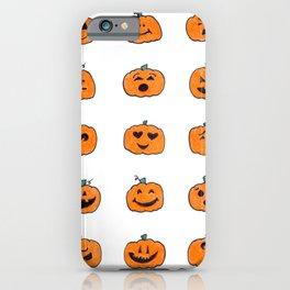 Moody Pumpkins iPhone Case
