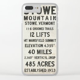 Stowe Ski Mountain Vermont Clear iPhone Case
