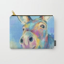 Carefree Donkey - Digital and Colorful Animal Illustration Carry-All Pouch