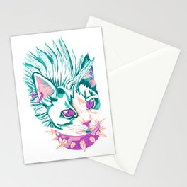 Punk Cat Stationery Cards