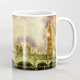 Abstract Golden Westminster Bridge in London Coffee Mug