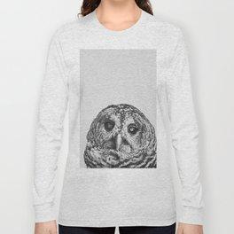 Hoo - black and white Long Sleeve T-shirt