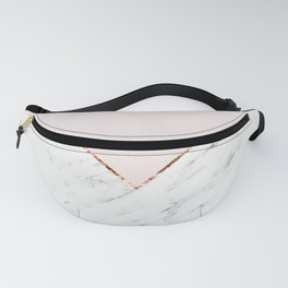 Peony blush geometric marble Fanny Pack