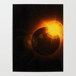 Total  Eclipse Astro Photography Poster