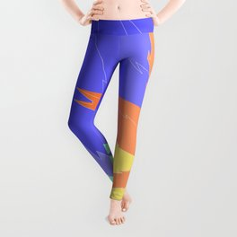 Leaves Falling From The Abstract Tree Leggings