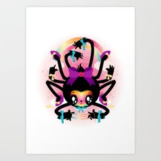Crafty spider Art Print
