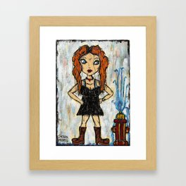 CLEMENTINE - KINDA SORTA WRECKED YOUR CAR Framed Art Print