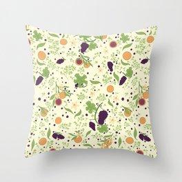 Grapes, Orange, Alfalfa Throw Pillow