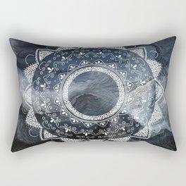 Precious white mandala on sky Rectangular Pillow