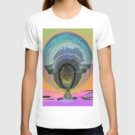 Tree Cactus in Bloom at Dawn T-shirt