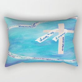 Love In Any Language Cross Rectangular Pillow