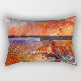 Landscape with sunset Rectangular Pillow