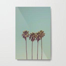 Palm Trees Print Metal Print