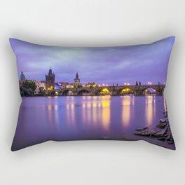 Blue Mornings Rectangular Pillow