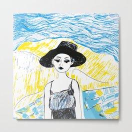 Woman on the beach 1 Metal Print