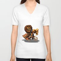 thundercats V-neck T-shirts featuring Lion-O Ultimate by Alexander Santos