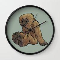 bigfoot Wall Clocks featuring Bigfoot by Savannah Horrocks