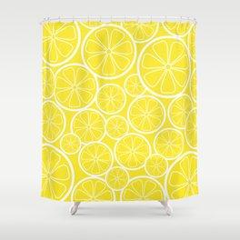 Lemon Slices and Lemonade Shower Curtain