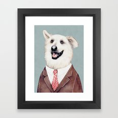 Happy Labrador Retriever Framed Art Print
