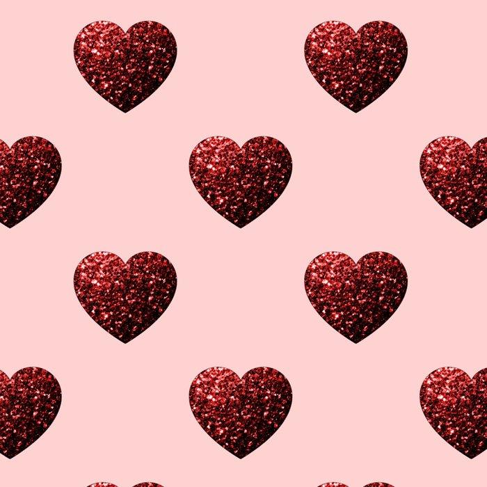 Red Glitter sparkles Heart Leggings