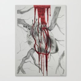 Bleed for Me Canvas Print