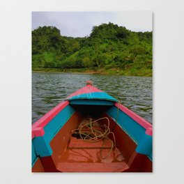 Small Boat, Big World Canvas Print