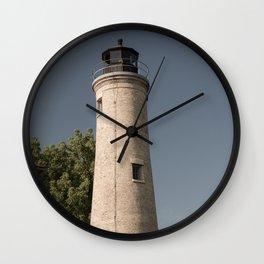 Kenosha Southport Light Station Light Tower Lighthouse Lake Michigan Wall Clock