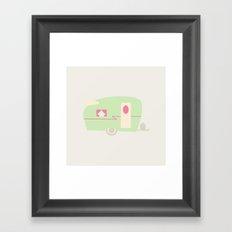 Retro Trailer  Framed Art Print