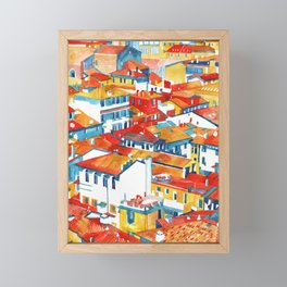 Verona buildings Framed Mini Art Print