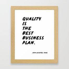 Best Business Plan Framed Art Print