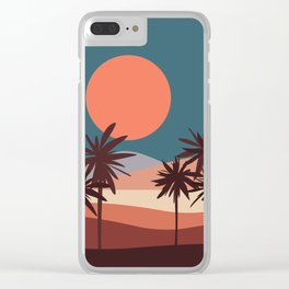 Abstract Landscape 13 Portrait Clear iPhone Case