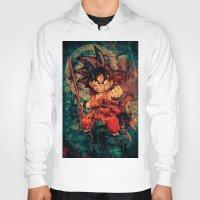goku Hoodies featuring Kid Goku by Sirenphotos