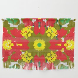 Colorful Leaves Mandala Wall Hanging