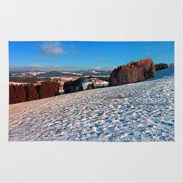 Hiking through winter wonderland II | landscape photography Rug