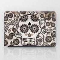 sugar skulls iPad Cases featuring Sugar skulls by nicky2342