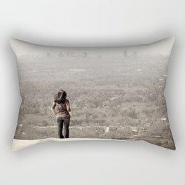 Women looking to downtown Atlanta, USA Rectangular Pillow