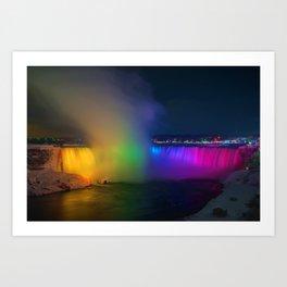 Rainbow Niagara Falls Waterfall (Color) Art Print