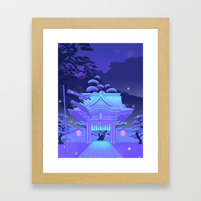 Blue Daydream Framed Art Print