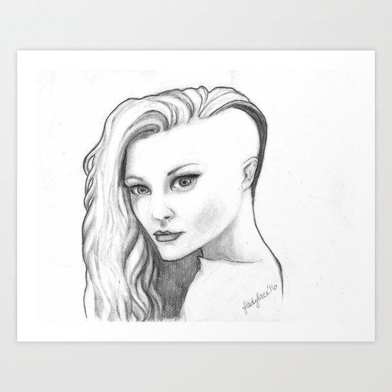 Undercut Art Print