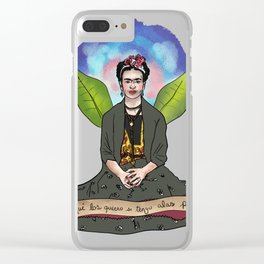 Frida Khalo - Alas para volar Clear iPhone Case