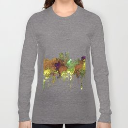Baton Rouge, Louisiana Skyline - SG - Safari Buff Long Sleeve T-shirt