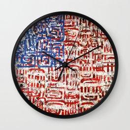 Flag Circled Wall Clock