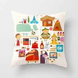 Hansel und Gretel + Pinocchio aka HANSELNOCCHIO Throw Pillow