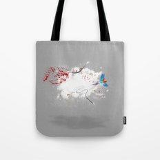 Dust-Ups: Pirate vs Ninja Tote Bag