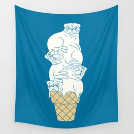 Pug Ice Cream Wall Tapestry