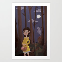 Little Yellow Coat Art Print
