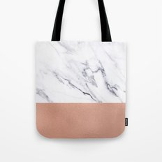 Marble Rose Gold Luxury iPhone Case and Throw Pillow Design Tote Bag