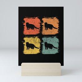 Scottish Fold Cat Pet Retro Pop Art Gift Mini Art Print